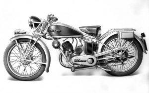 La motoleggera Ollearo 175 con serbatoio a sella del 1926